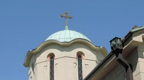 ortodokse, kirke, bygge, dome, religion, arkitektur, taket, kors, gamle, byen
