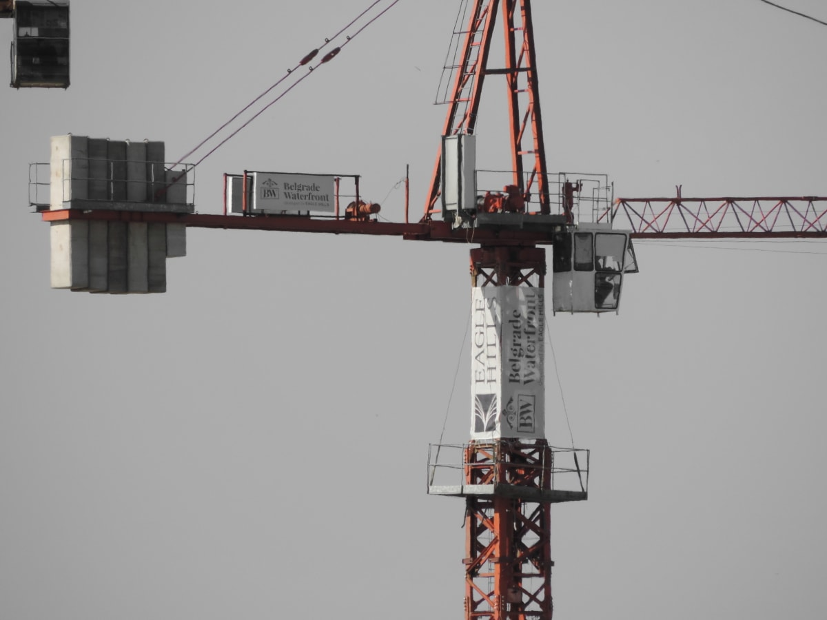 construction, engineering, high, machinery, crane, device, tower, industrial, industry, steel