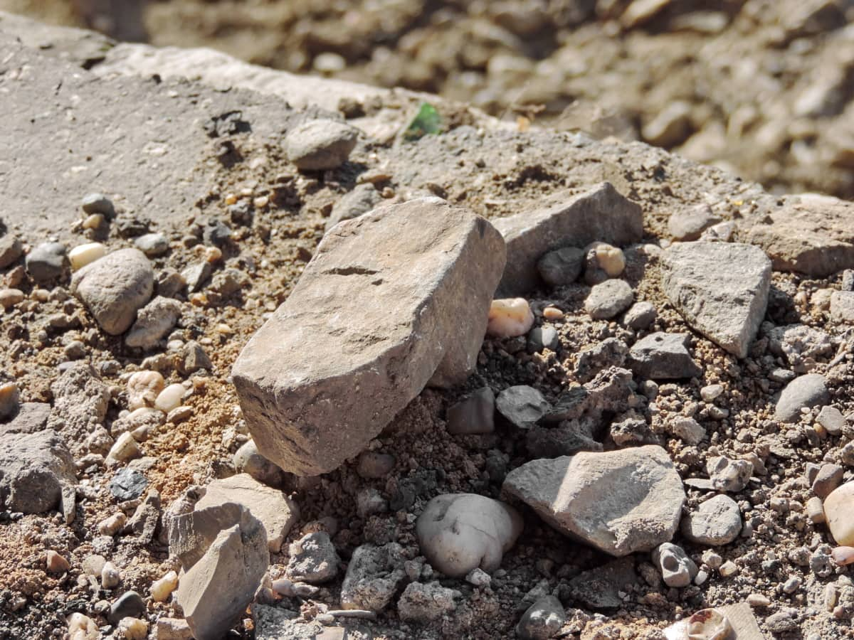 concrete, wasteland, rock, stone, nature, gravel, ground, soil, rough, dust