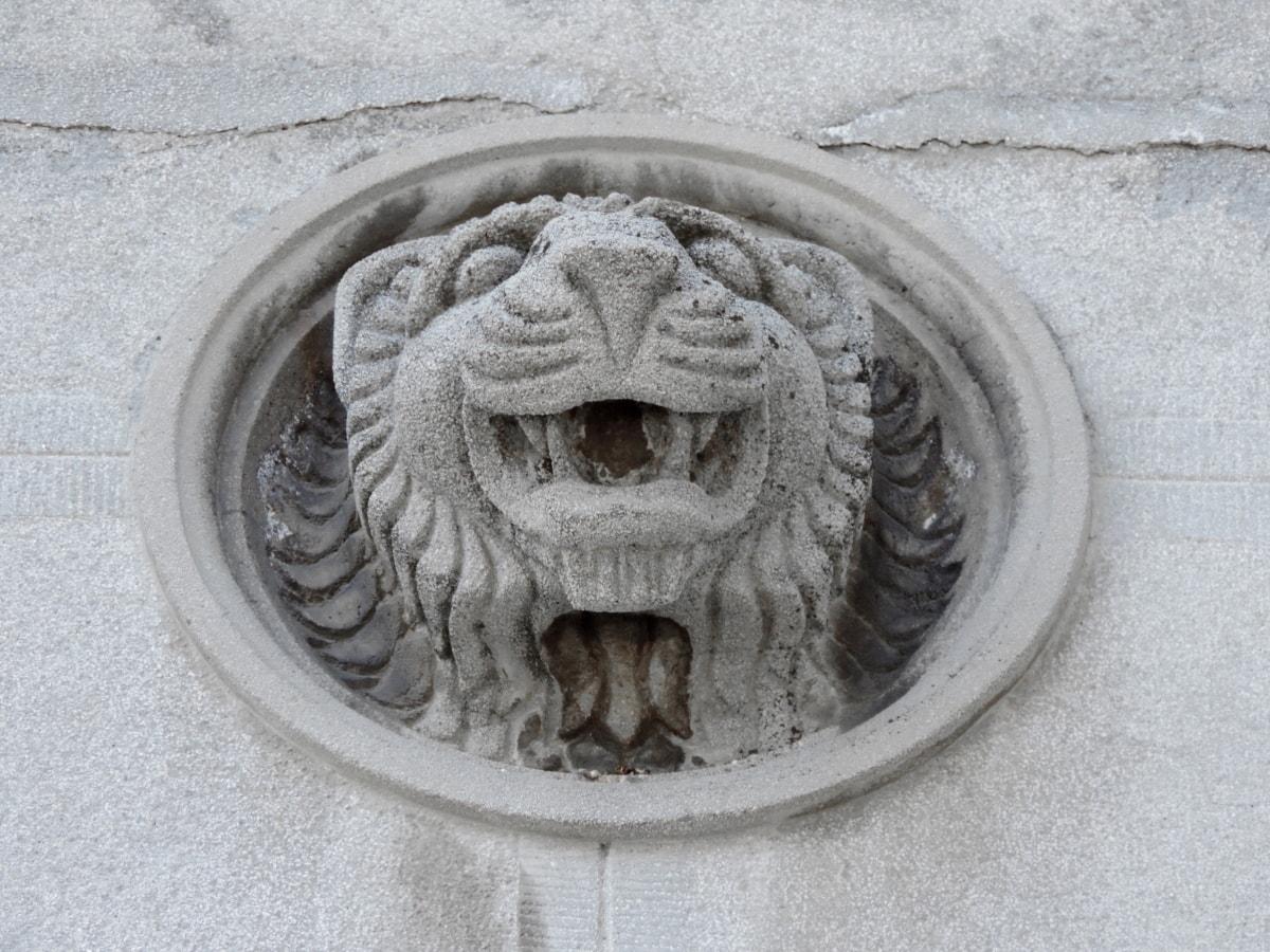 art, concrete, lion, sculpture, architecture, top, ancient, marble, statue, stone