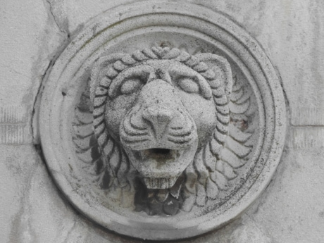 art, black and white, grey, lion, monochrome, relief, sculpture, ancient, architecture, statue