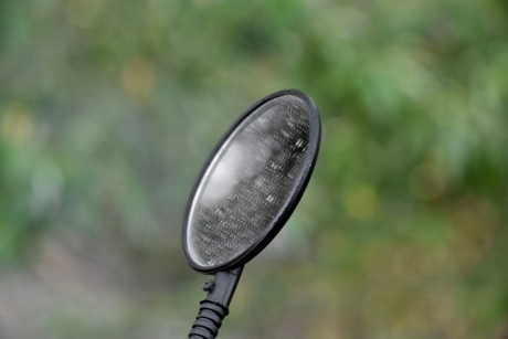blurry, detail, dirty, mirror, iron, outdoors, summer, blur, fair weather, light