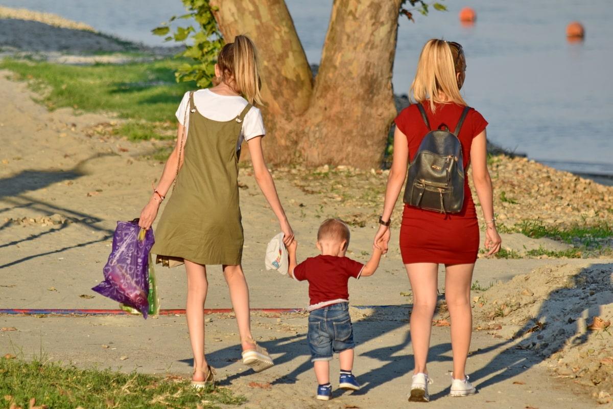 ребенок, Семья, моды, Дружба, материнство, Милая девушка, юбка, девушка, женщина, Лето