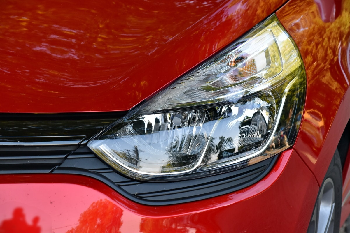 bil, strålkastare, huva, glödlampa, metall, moderna, krom, fordon, klassisk, automotive