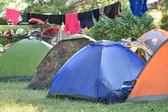 camper, camping, campus, recreation, tent, camp, campsite, summer, outdoors, grass