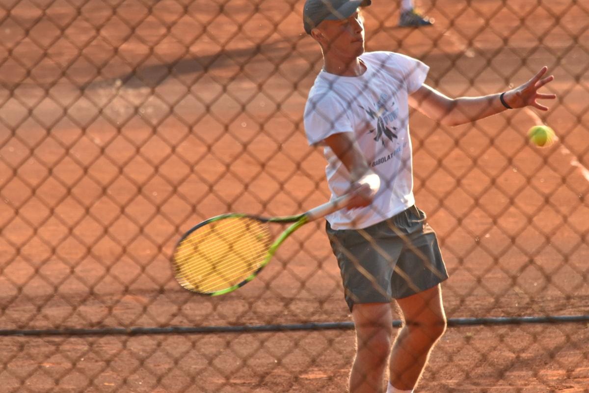 Top, Tenis Kortu, Tenis raketi, Web, Tenis, Raket, Mahkeme, rekabet, Spor, atlet