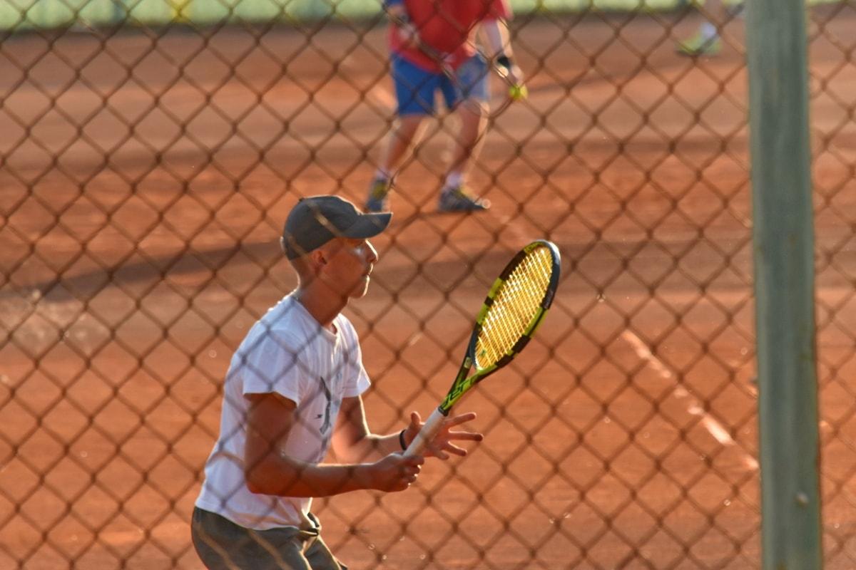 tenisowe, kort tenisowy, rakieta tenisowa, piłka, Sport, gra, rakieta, Sąd, sieci Web, sportowiec