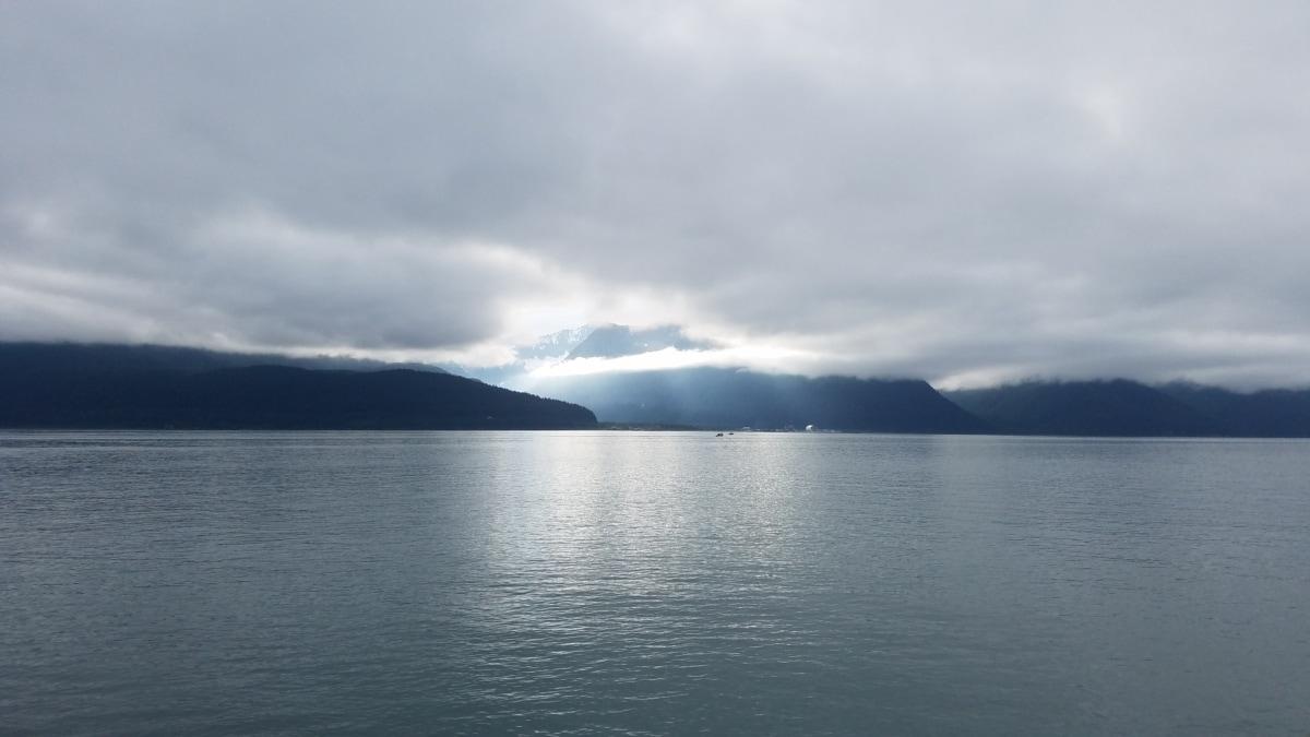 zaljev, maglovito, horizont, ocean, jezero pejzaž, voda, krajolik, obala, priroda, more