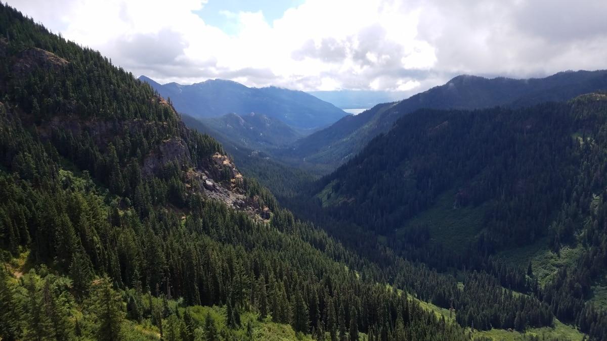 landschap, berg, bereik, Bergen, hout, natuur, vallei, buitenshuis, boom, water