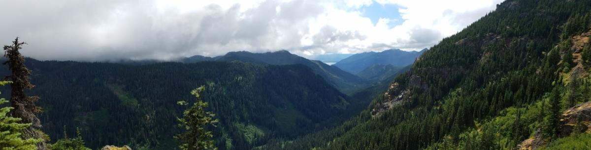 wolken, bos, vallei, Bergen, berg, landschap, buitenshuis, natuur, mist, daglicht