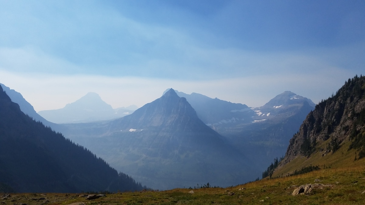 morgen, dalen, fjell, høyt land, landskapet, fjell, utvalg, natur, daggry, tåke