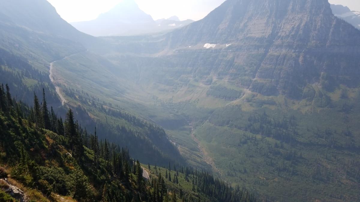 dzień, mglisty, rano, Dolina, zakres, góry, drewno, góry, krajobraz, Natura