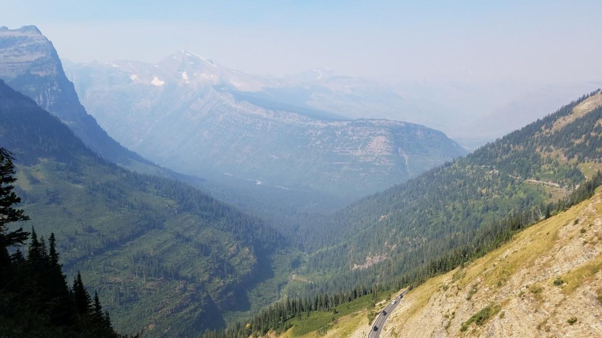 foggy, hilltop, mountain peak, mountains, mountainside, high land, landscape, mountain, valley, nature