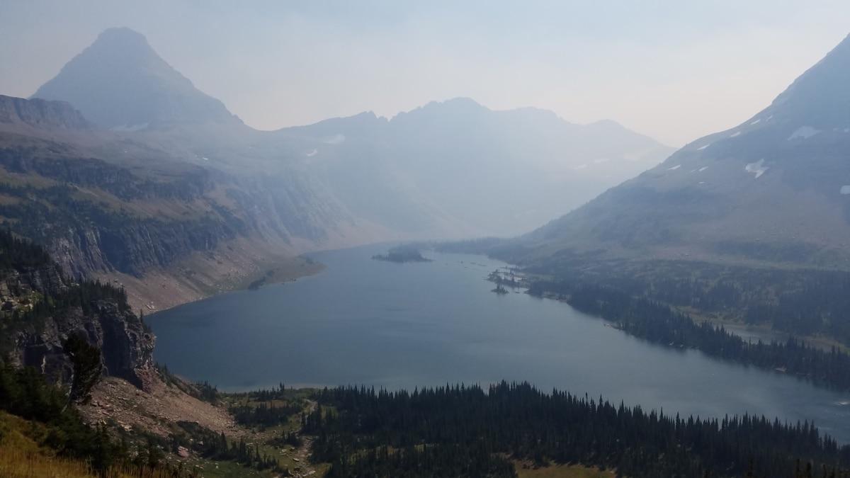 výstup, hmla, stráň, jazero, panoráma, Príroda, sneh, vysočina, hory, voda