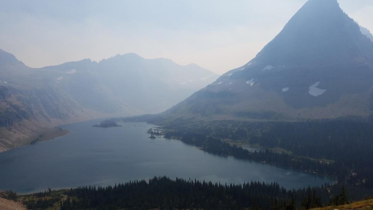 foggy, hilltop, panorama, water, fog, landscape, range, lake, mountain, snow