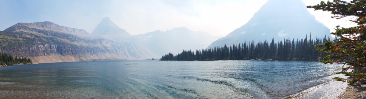 nad jeziorem, sezon letni, światło słoneczne, fale, nachylenie, zakres, śnieg, zimowe, góry, Natura