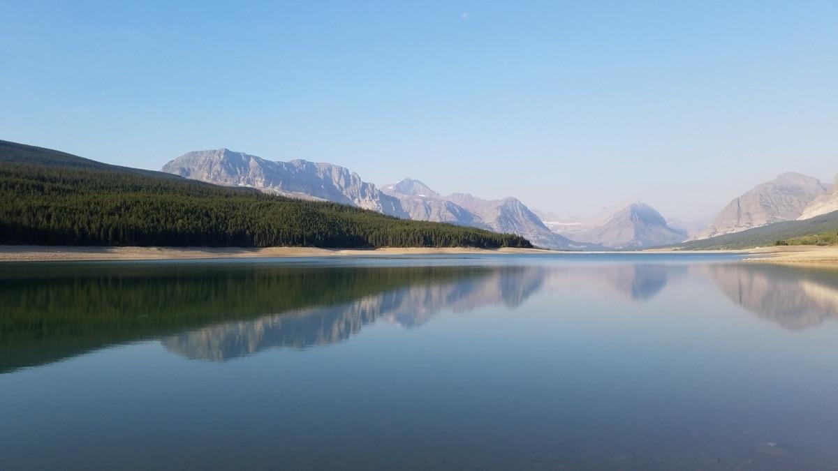 krajolik, voda, snijeg, planine, odraz, jezero pejzaž, jezero, obala, priroda, zora