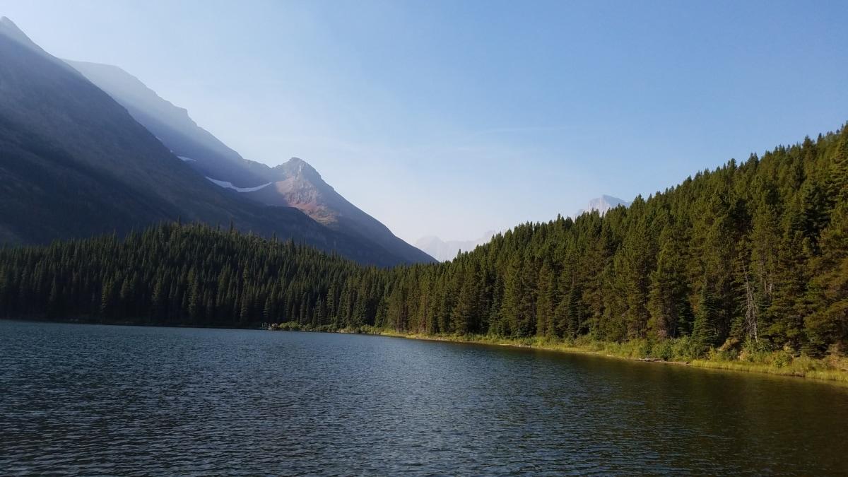 крайбрежие, иглолистни, гора, хоризонт, Lakeside, пейзаж, езеро, природата, диапазон, планини