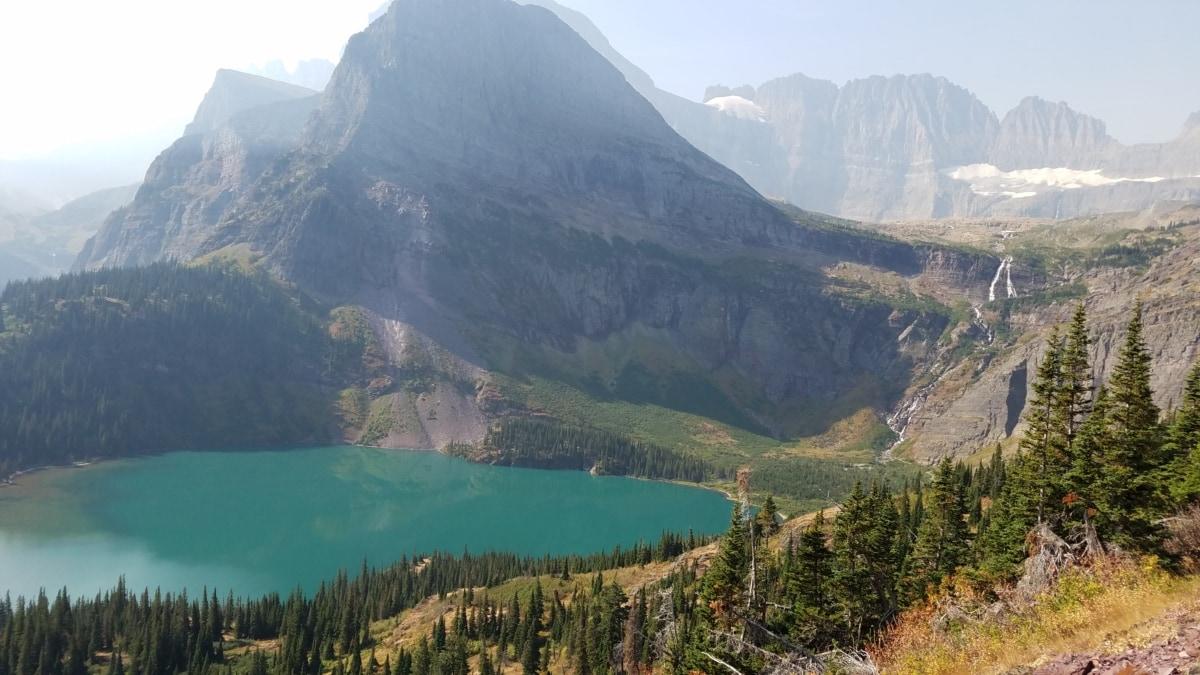 озеро, Горная вершина, Национальный парк, вода, пустыне, горы, Ледник, нагорье, диапазон, Гора