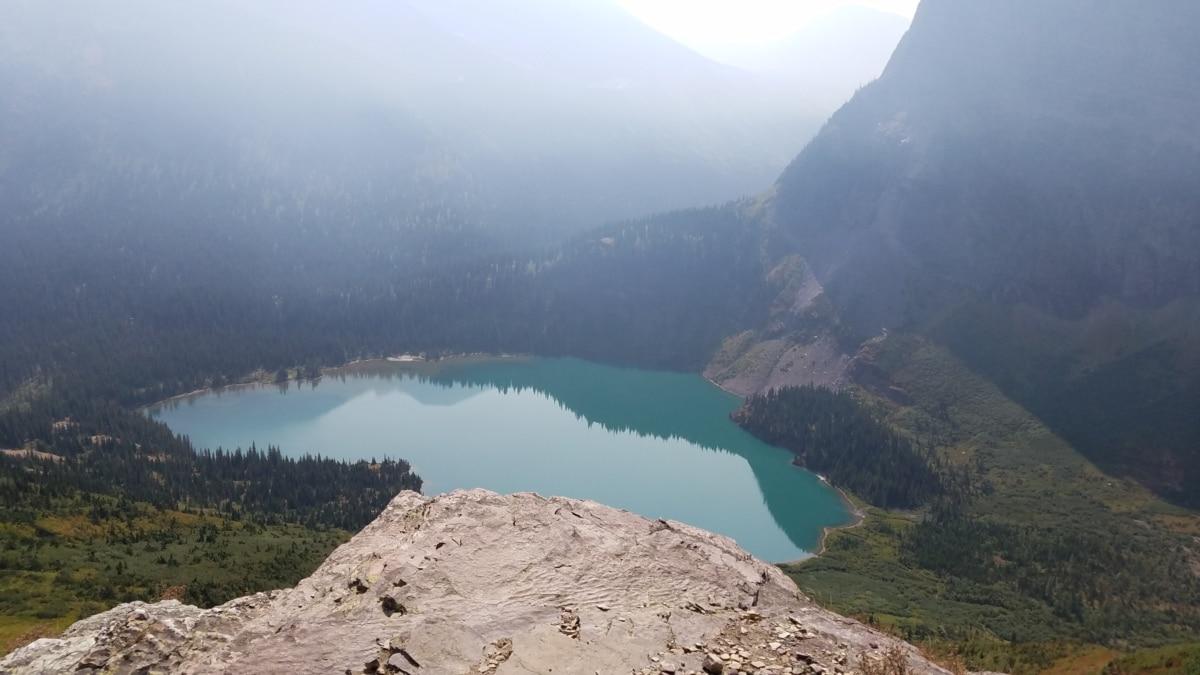 klippe, krateret, innsjø, nasjonalpark, skygge, fjell, vann, fjell, landskapet, høyt land