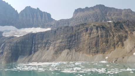 frost, glacier, northern hemisphere, landscape, cliff, ocean, water, mountain, nature, seashore