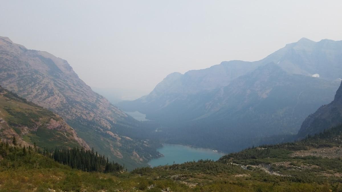 dårlig vær, tåkete, innsjøen, dalen, landskapet, tåke, høyt land, fjell, fjell, natur