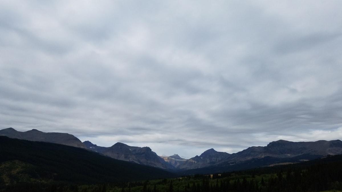 高山, 上升, 坏天气, 山顶, 山, 山, 性质, 高地, 景观, 范围