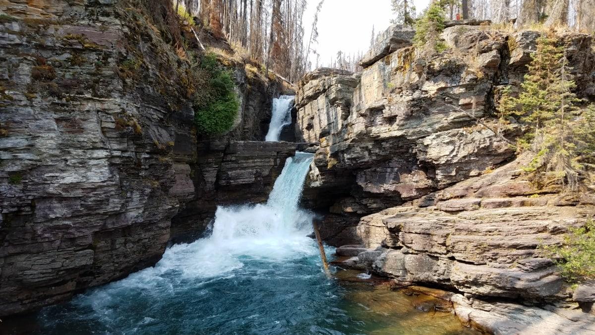 тесен, поток, водопад, пустинята, пейзаж, природата, вода, река, рок, на открито