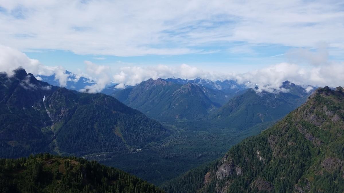 altitude, nuageux, brume, Sommet de montagne, pente, montagne, paysage, montagnes, gamme, nature