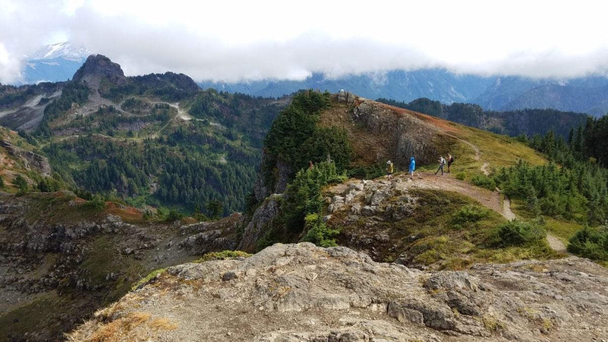adventure, hiker, hillside, hilltop, mountain climbing, mountain peak, mountaineer, slope, mountains, landscape