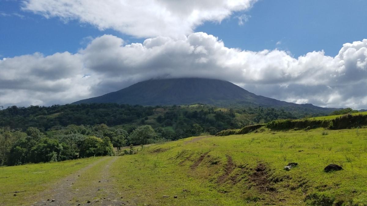 mountain, landscape, volcano, high land, nature, grass, hill, outdoors, summer, grassland