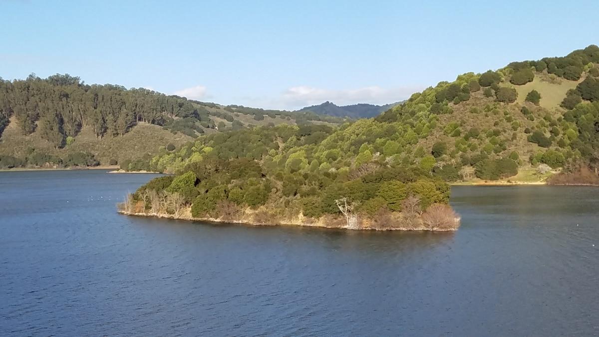horizon, island, lakeside, water, mountain, landscape, nature, outdoors, summer, seashore