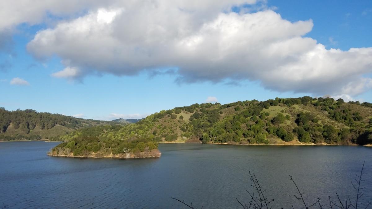 island, lakeside, national park, landscape, shore, mountain, water, lake, nature, summer