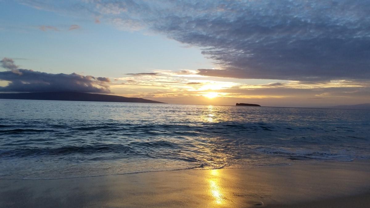 Beachfront, paratiisi, sommersæsonen, solens stråler, solopgang, Shoreline, kyst, solnedgang, daggry, solen