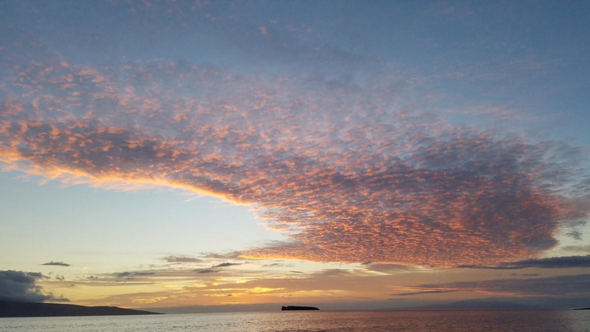 atmosfera, oblaci, tropska, izlazak sunca, zora, Sunce, plaža, more, krajolik, večer