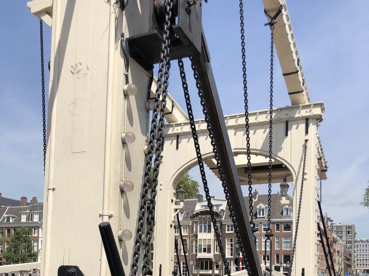 bridge, cast iron, downtown, steel, suspension bridge, industry, machine, architecture, boat, outdoors