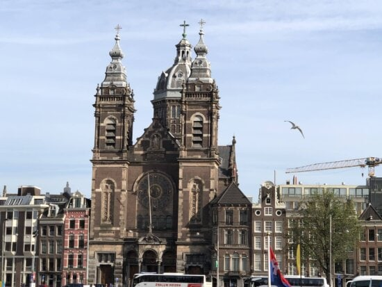 downtown, europe, church, tower, architecture, building, cathedral, city, old, outdoors