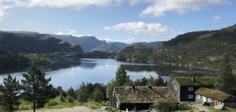 Sommerhus, idylliske, ved søen, nationalpark, turisme, turistattraktion, landskab, natur, vand, søen