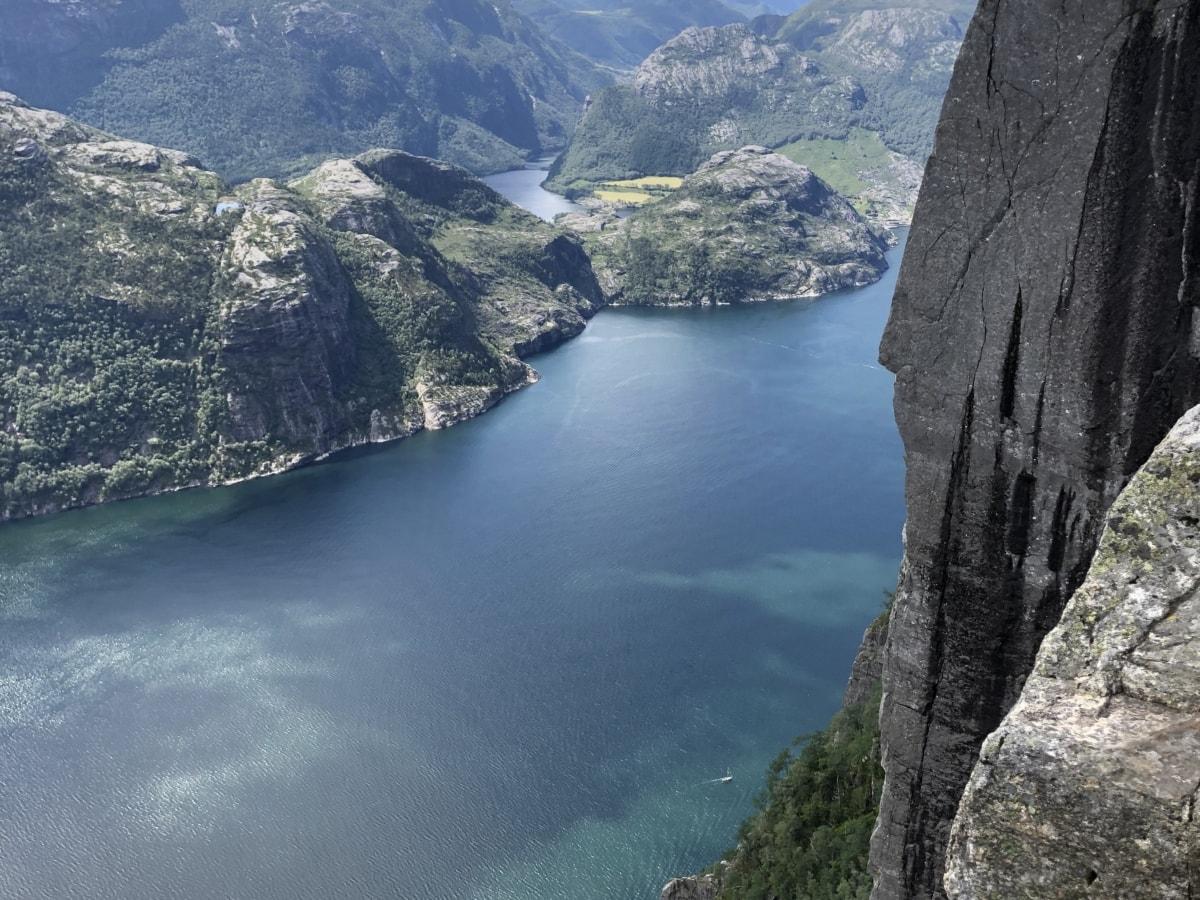 Dal, elven, elvebredden, bassenget, innsjø, fjell, vann, landskapet, fjell, natur