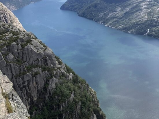 panorama, river, water, mountain, landscape, glacier, nature, rock, outdoors, cliff