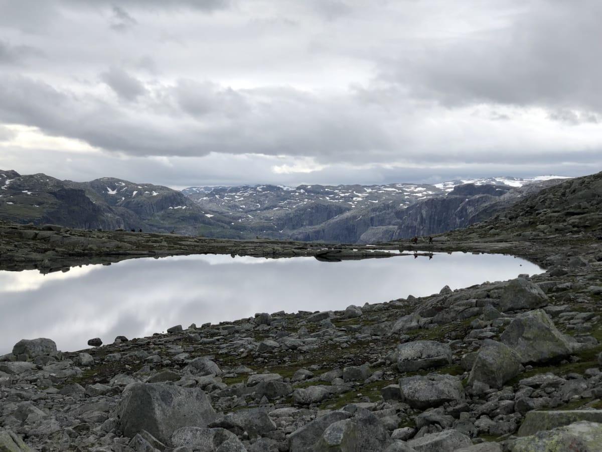 landschap, gletsjer, Bergen, berg, sneeuw, water, natuur, meer, rots, wolk