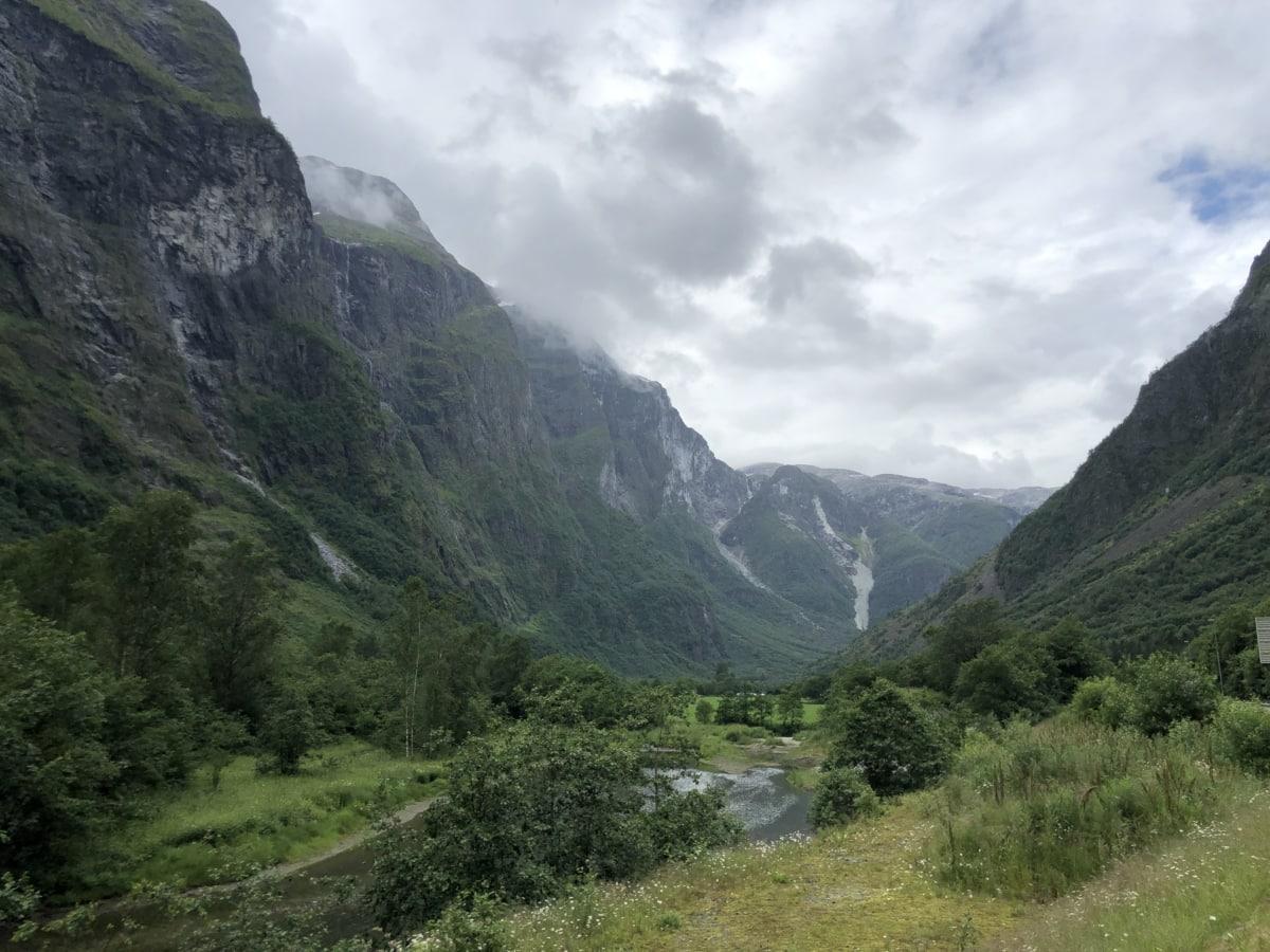 nuages, campagne, Sommet de montagne, flanc de la montagne, rural, vallée de, paysage, montagne, gamme, montagnes
