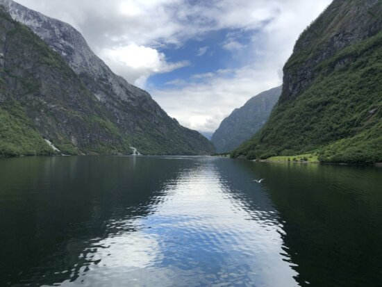 panorama, reflection, riverbank, valley, wilderness, shore, water, mountains, mountain, river