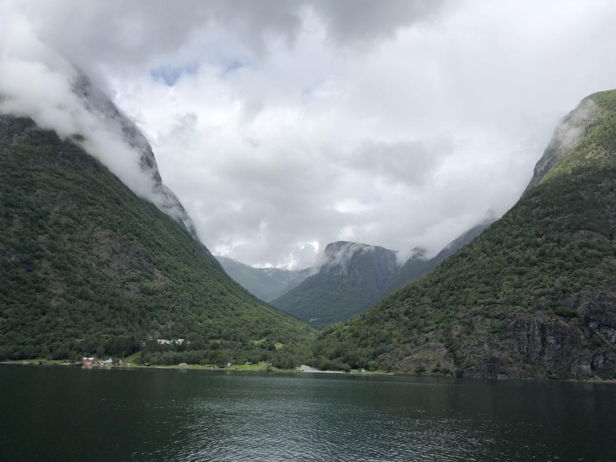 云量, 湖, 雾, 范围, 景观, 盆地, 山, 水, 山, 湖