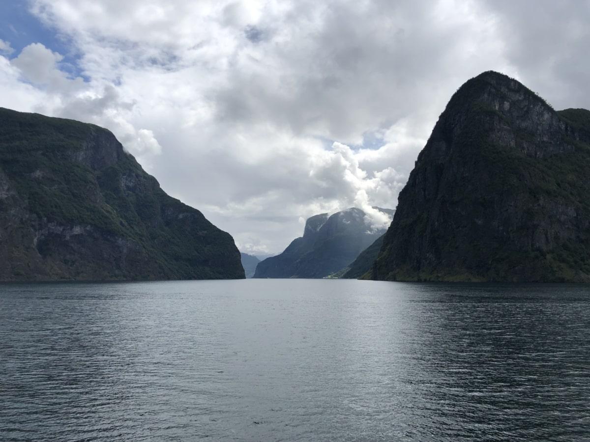awan, berkabut, tepi danau, Danau, pemandangan, air, pegunungan, Gunung, alam, Pantai