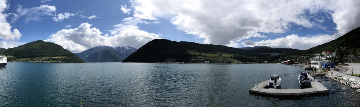coastline, harbor, lakeside, shipyard, lake, water, mountain, landscape, nature, outdoors