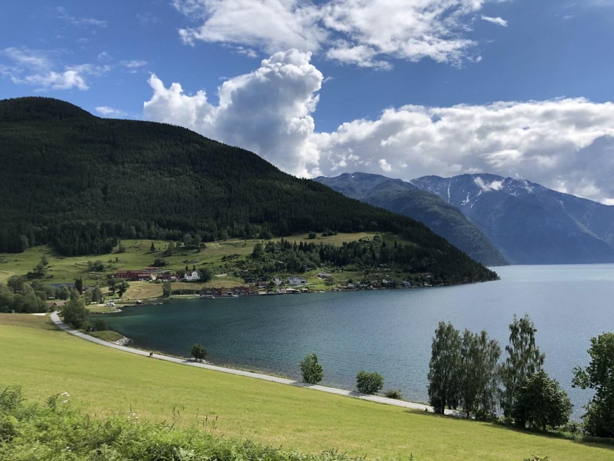Vacker, landskap, nationalparken, sommartid, sjön, Berg, högland, vatten, naturen, Utomhus