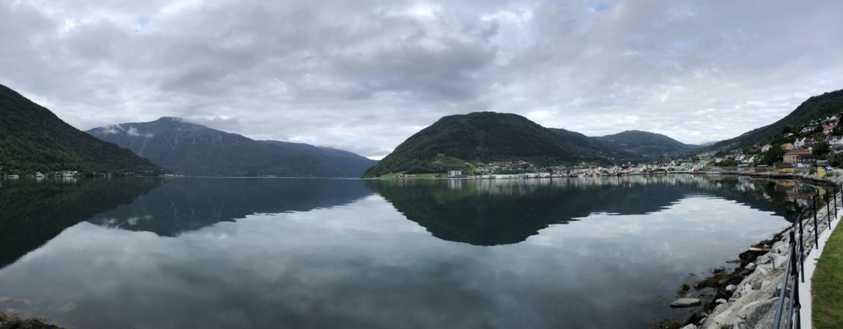 lakeside, reflection, tourist attraction, mountain, landscape, water, nature, lake, outdoors, fog