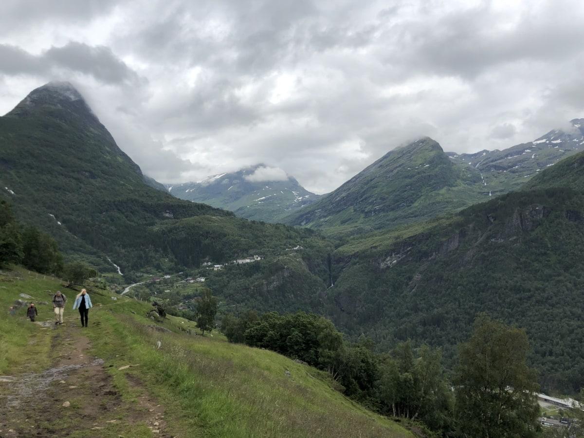 escursionista, arrampicata in montagna, percorso, Turismo, orizzontale, montagna, Valle, natura, escursione, legno