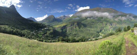 haute terre, montagne, Knoll, montagnes, paysage, nature, herbe, vallée de, prairie, à l'extérieur